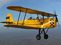 Vintage biplane experience picture