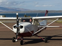 Light aircraft trial lesson