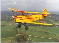 Tiger Moth flying
