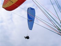 Tandem Paragliding Flight + Aerobatic Introduction