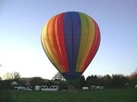 Hot air balloon flight picture