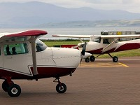 Light aircraft pleasure flight picture