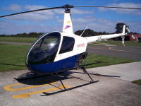 Helicopter trial lesson in a R22